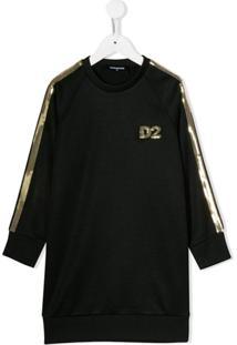 Dsquared2 Kids Vestido D2 - Preto