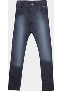 Calça Jeans Tigor Estonada Infantil - Masculino-Marinho