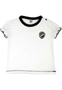 Camiseta Baby Look Bebê Menina Vasco Oficial