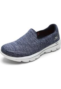 Slipper Skechers Go Walk Evolution Ultra-Amaze Azul-Marinho