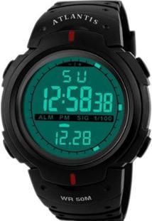 Relógio Digital Running - Unissex-Preto