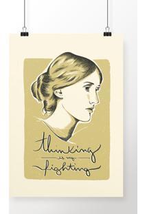 Poster Virginia Woolf