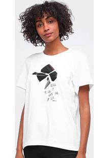 Camiseta Forum Estampada Manga Curta Feminina - Feminino