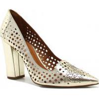 19dea5e1bd Betisa. Sapato Cecconello Scarpin Vazado Metalizado