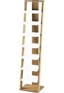 Prateleira Suspensa Stairway 1132 Palha/Branco - Maxima