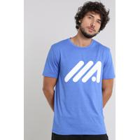 bda4ffcc9 Camiseta Masculina Esportiva Ace Com Estampa Manga Curta Gola Careca Azul