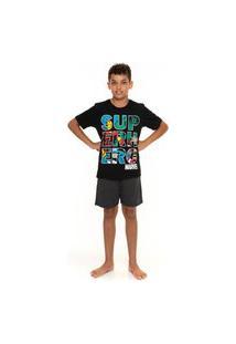 Pijama Juvenil Masculino Comics Evanilda Marvel Vingadores