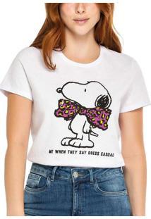 Camiseta Feminina Snoopy Enfim 1000083266 00001-Br
