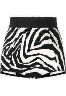 Dolce & Gabbana Zebra-Print Shorts - Preto