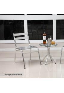 Conjunto De Mesa & Cadeiras Lorena - Prateado - 3Pçsalegro