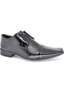 Sapato Social Masculino Couro Verniz Jota Pe 77700