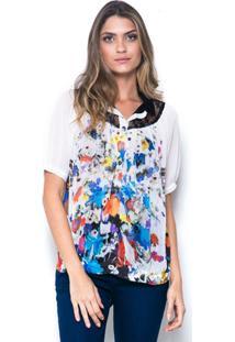 524c6d8522 Camisa 101 Resort Wear - Feminino-Branco+Azul