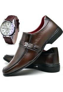 Sapato Social Fashion Com Relógio Dubuy Masculino 827El - Masculino