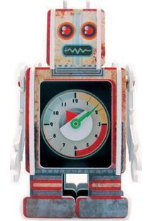 Relógio De Mesa Robot Geek10 - Multicolorido