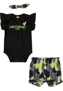Conjunto Infantil Love Everyday Preto