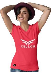 Camiseta Gola V Cellos Classic Il Premium Feminina - Feminino