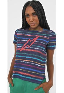 Camiseta Cantã£O Espectro Azul-Marinho - Azul Marinho - Feminino - Poliã©Ster - Dafiti