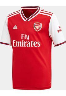 Camisa Arsenal Infantil Home 19/20 S/Nº Torcedor Adidas - Masculino-Vermelho
