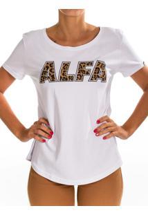 Camiseta Alfa Candy Onça Branco