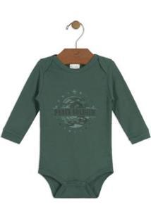 Body Bebê Suedine Up Baby - Masculino