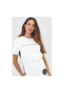 Camiseta Lança Perfume Texturizada Off-White/Preto