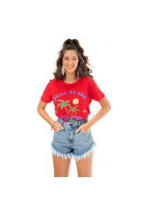 T-Shirt Brisa Fille Vermelho