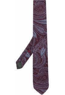 Dell'Oglio Gravata Com Paisley - Vermelho