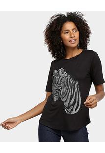 Camiseta Acostamento Zebra Feminina - Feminino