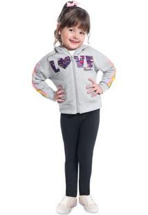 Conjunto Infantil Feminino Jaqueta + Legging Kyly 207134.40068.1