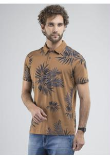 Camisa Polo Palm Trees Caramelo