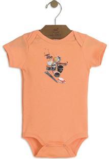 Body Em Suedine Infantil Laranja Up Baby