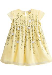Vestido Festa Chiffon Milon Amarelo