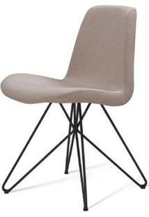 Cadeira Eames Estofada Bege Base Butterfly Preta - 45171 - Sun House