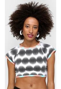 Camiseta Roxy Lycra Crop Rashguard - Feminino