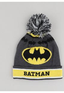 Gorro Infantil Batman Com Pompom Chumbo - Único