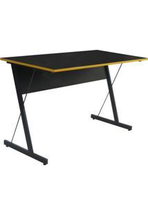 Mesa Para Computador Notebook Gamer Zetta Preto/Amarelo - Fit Mobel