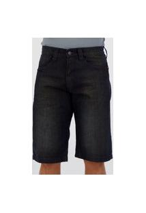 Bermuda Jeans Hd Denin Style Azul Escuro