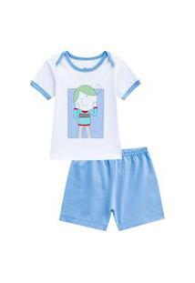 Pijama Curto Eddie Masculino Bebê Veggi