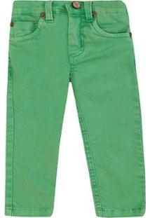 Calça Bebê Sarja 1Mais1 Masculina - Masculino-Verde