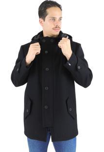 Casaco Fiero Em Lã Premium Colorado Preto