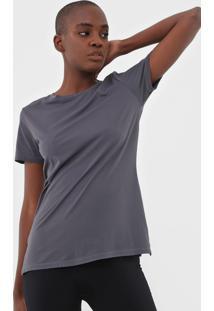 Camiseta Alto Giro Skin Recortes Cinza
