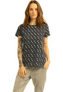 T-Shirt Nogah Yoga Marinho - Azul Marinho - Feminino - Algodã£O - Dafiti
