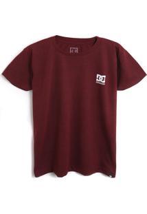 Camiseta Dc Shoes Menino Lettering Vinho