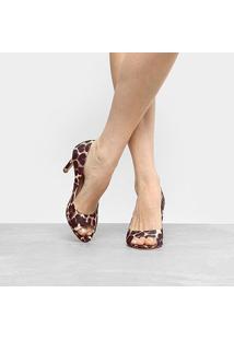 Peep Toe Shoestock Salto Fino - Feminino