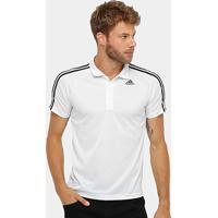 Camisa Polo Adidas D2M 3S Masculina - Masculino-Branco 5fc9ccbb78ef5