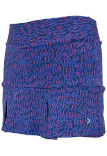 Short Saia Oxer Print Beans Girls - Infantil - Azul Esc/Rosa