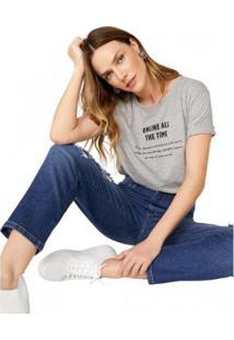 Camiseta T-Shirt Amaro Online All The Time Feminina - Feminino