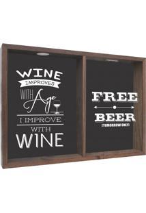 Quadro Porta Rolhas Wine Improves Madeira
