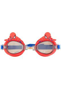 Óculos De Natação 3D Spider Man®- Cinza Vermelho- Etilux