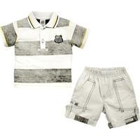 Conjunto Polo Shorts Meia Malha Oxford Menino Santos Reve Dor - 3 Anos -  Masculino b6cca85317d4b